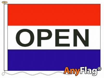 OPEN RED WHITE AND BLUE ANYFLAG RANGE - VARIOUS SIZES